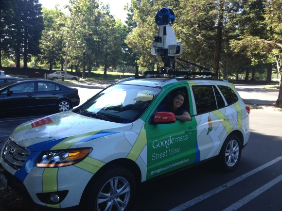 I'm about to head over to CityCamp Palo Alto via a Google Street View car!