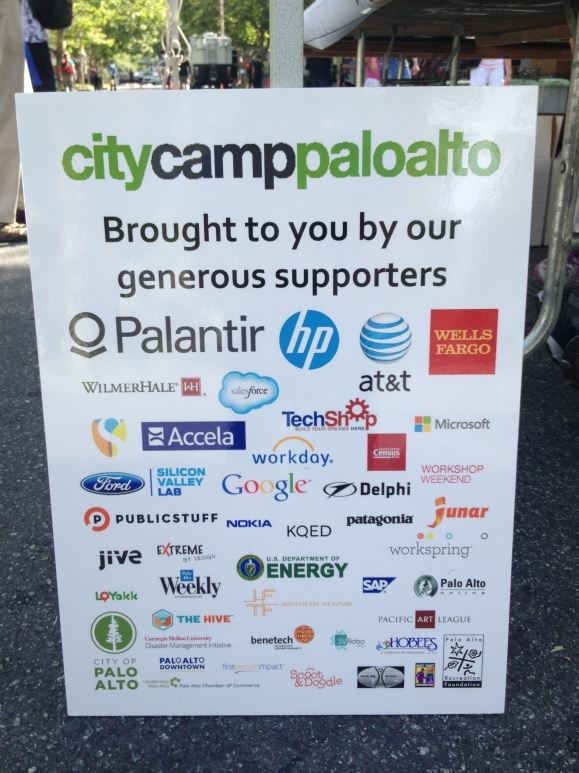 CityCamp Palo Alto Sponsors