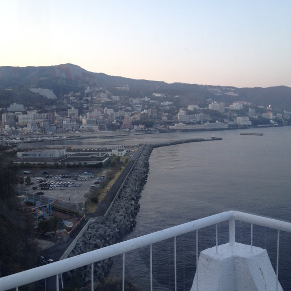 View from the hotel we stayed at in Atami.