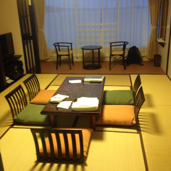 Our traditional tatami rooms for the night.