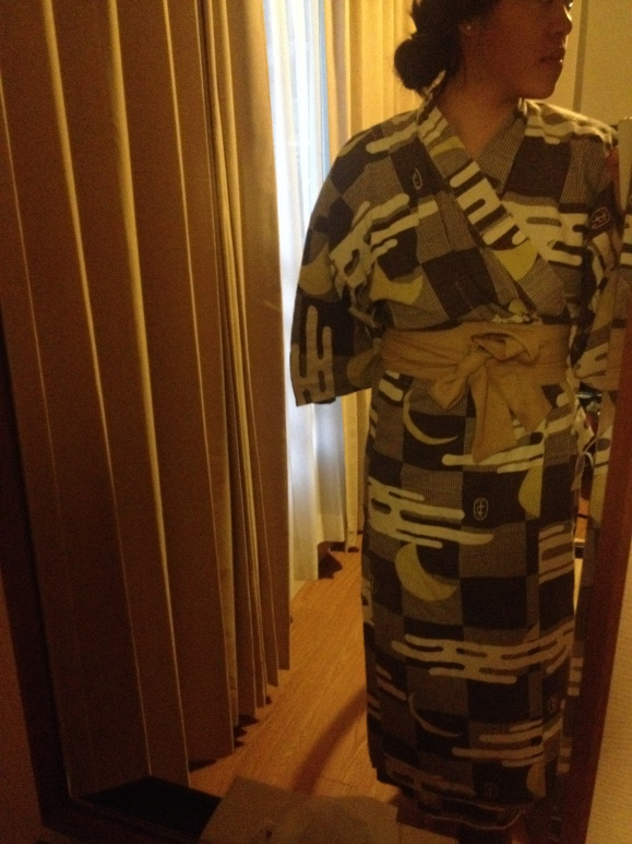 These were the Yukata robes we wore after going to the Onsen hot springs.