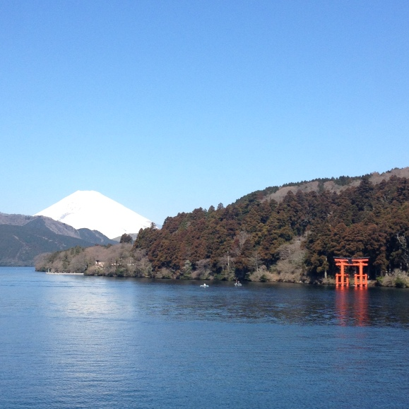 We cruised through Lake Ashi in Hakone. And, yes, that's Mt. Fuji in the background!