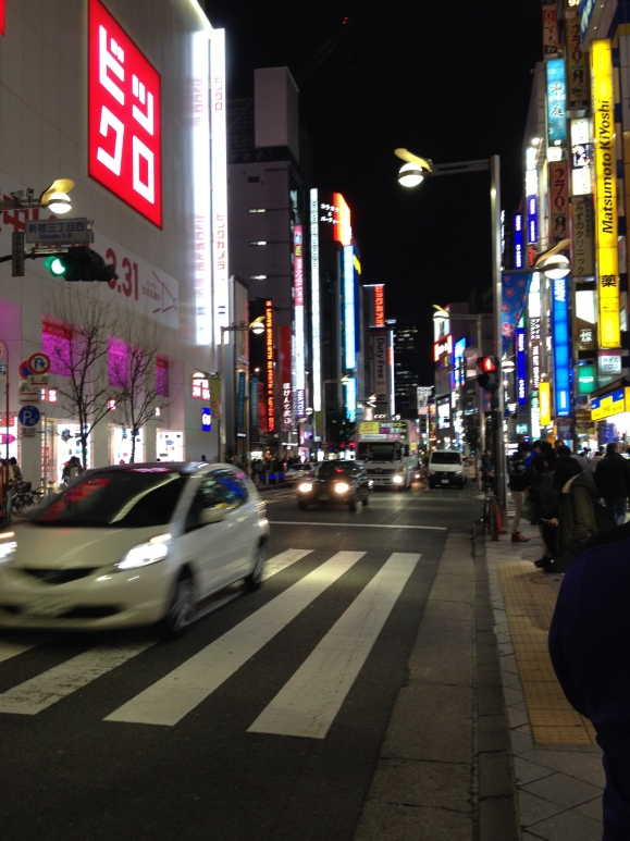 View of Shinjuku at night when all the signs are lit up. Kinda feels like Times Square in NYC.