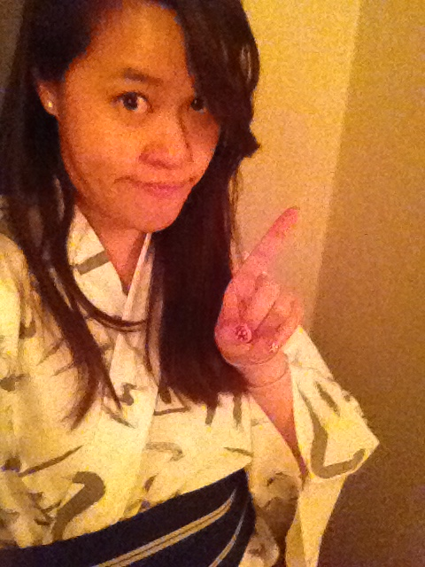 This girl did not forget her daily kimono #selfie. Nuh uh!