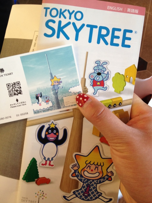 Ticket to go up the Tokyo Sky Tree