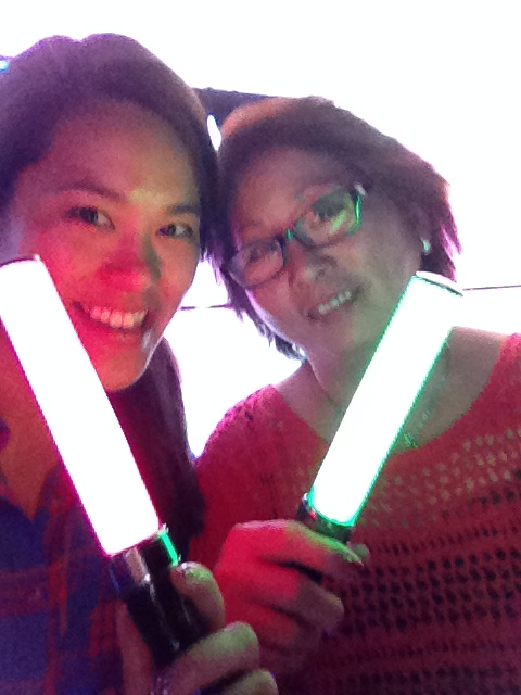Yeah, they handed out light sticks. It was all really Asian and colorful.