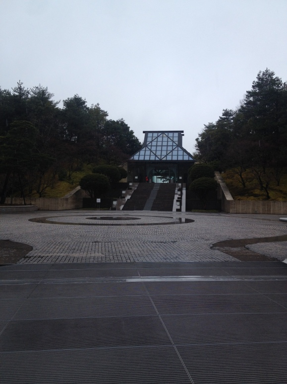 The entrance of the Miho Museum