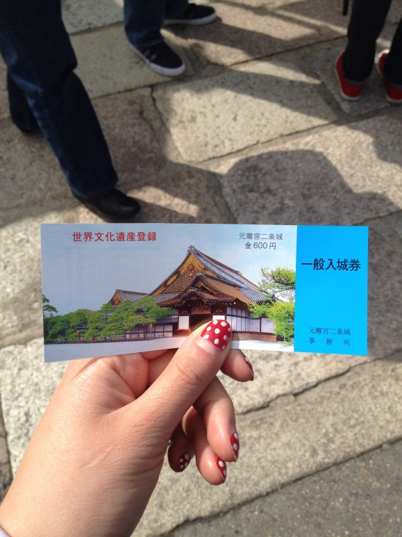 Ticket to the Nijo Castle in Kyoto