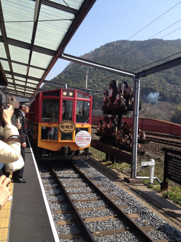 Kameoka-Sagano train arrival