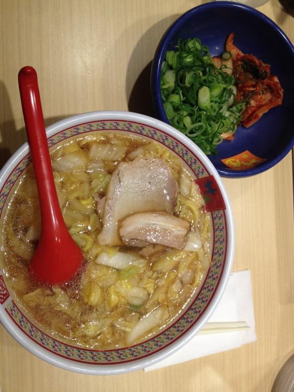 I got a kimchi ramen noodle soup.
