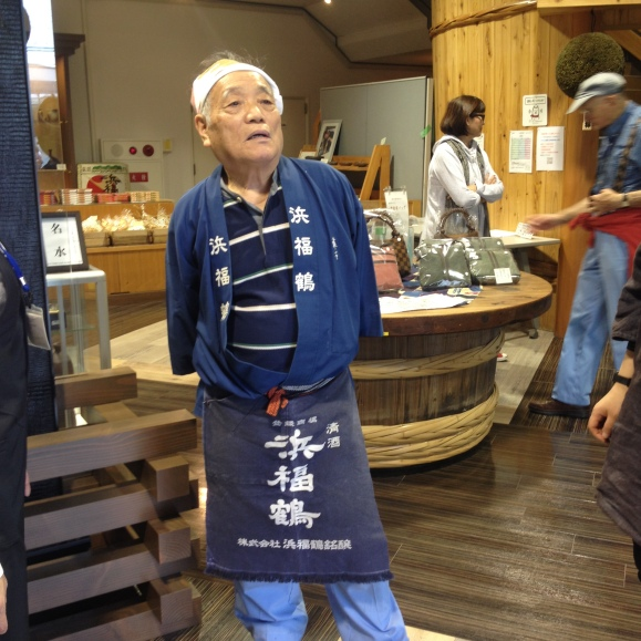 Man behind the dry sake taste that comes from Kobe.