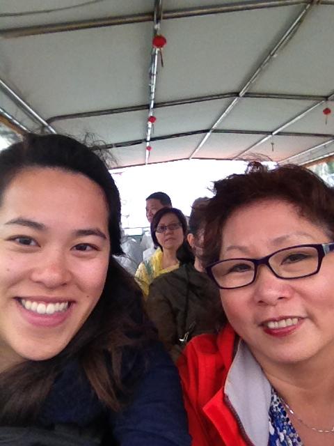 We're on a boat #selfie