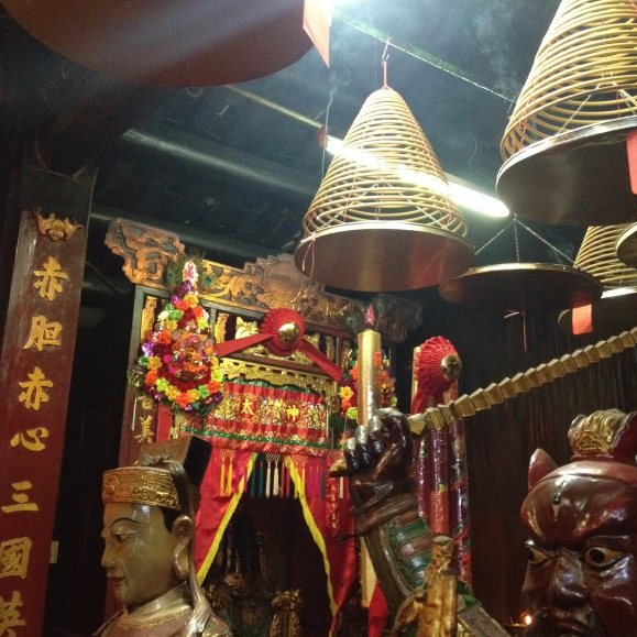 Incense hanging from the ceiling