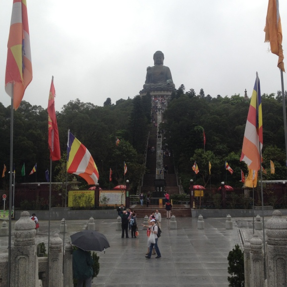 Stairs leading up to the Great Buddha